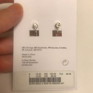 082c64f9f & Other Stories Jewelry   Nwt Other Stories Tiny Drop Back Earrings ...